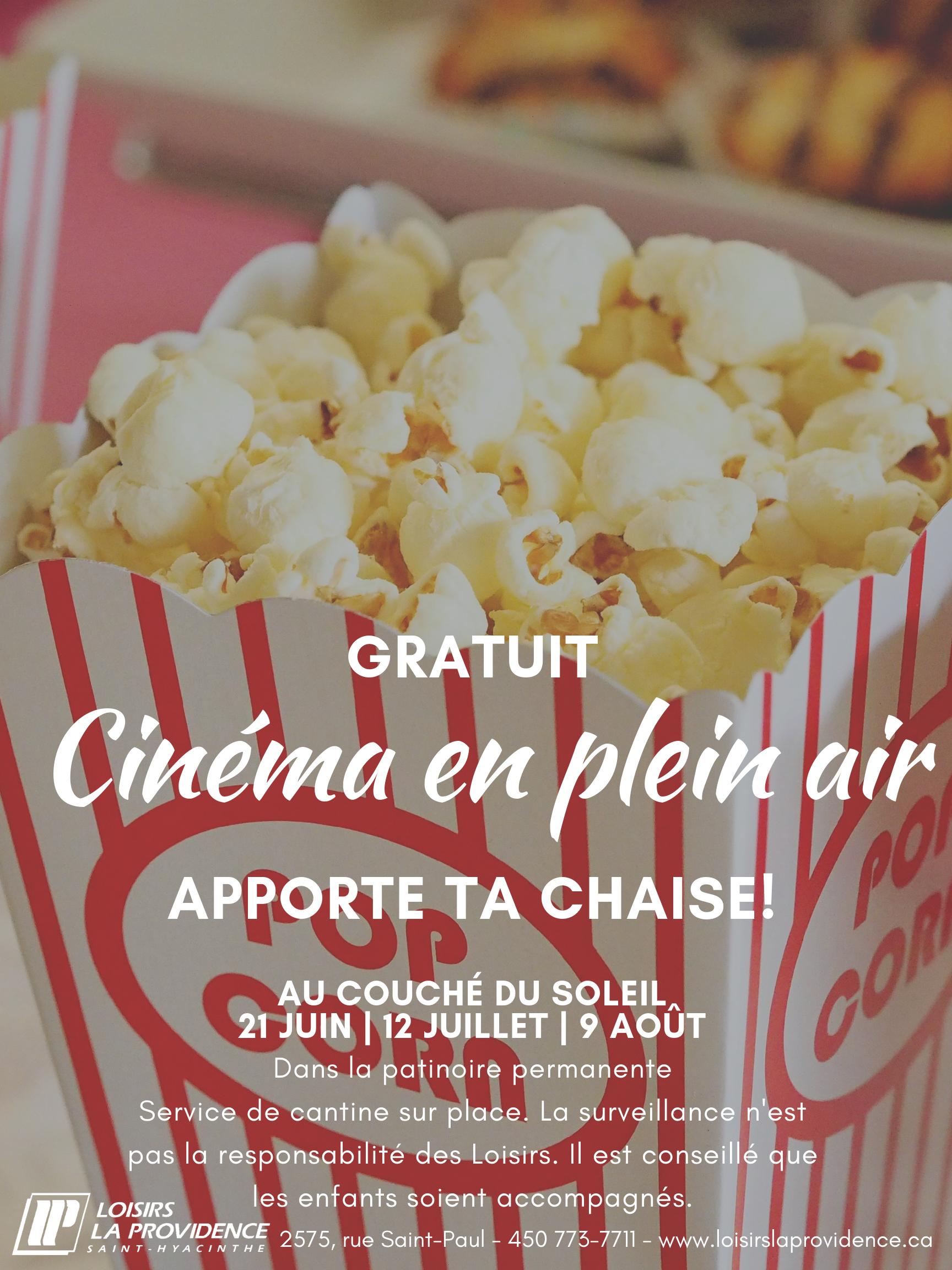 Cinéma en plein air général 2019