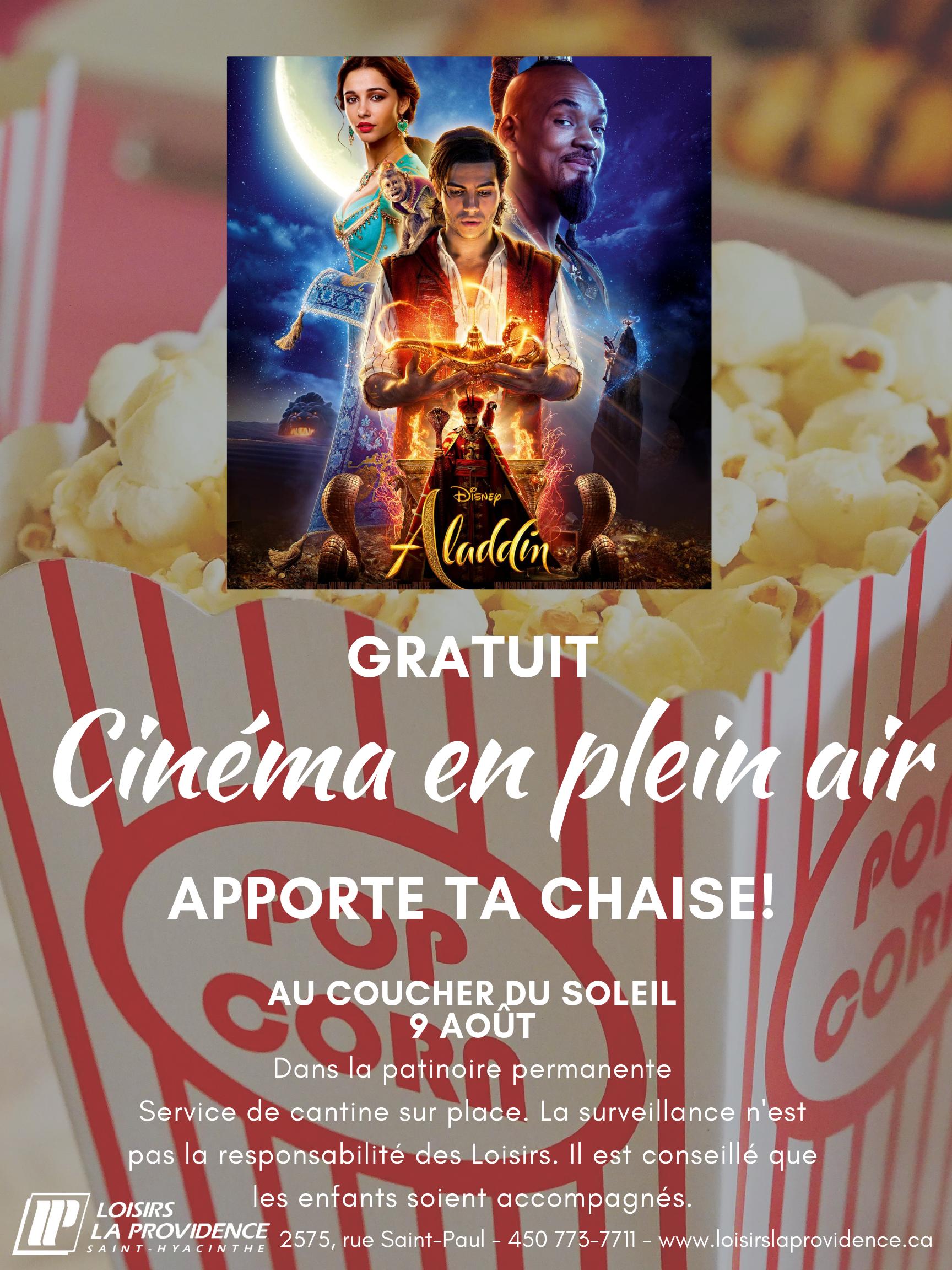 Cinéma (aladin) 9 août